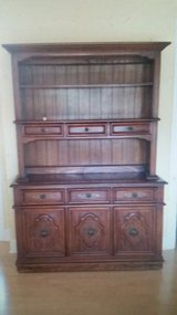 Solid Wood Cabinet Hutch/TV Console (beautiful detail) - $160 in Batavia, Illinois