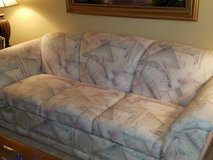 White Print Couch - 88 inches wide in Naperville, Illinois