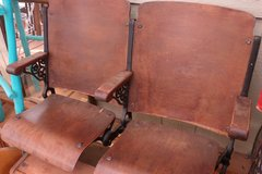 Antique Wooden and Cast Iron Theatre Seats in Alamogordo, New Mexico