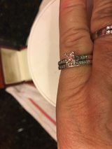 Beautiful 18k White Gold Princess Cut Wedding Rings in Oceanside, California