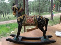 Large Hand Carved and Painted Rocking Horse in Alamogordo, New Mexico
