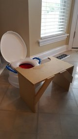Potty seat home-made table in Bartlett, Illinois