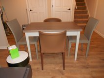 Crate&Barrel Vamelie Flip Table Small and 4 Crate&Barrel Chairs NEW in Batavia, Illinois