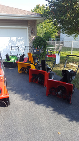 """2 stage 24"""" Snowblower's. With Electric Start in New Lenox, Illinois"""