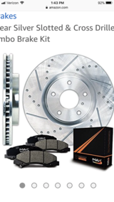 07-13 six lug front, cross drilled rotors and pads for GMC Sierra or Chevy Silverado in Fairfield, California
