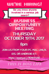 Avon Representatives - this opportunity is for one day only, Oct 19th, 2017 in Camp Lejeune, North Carolina