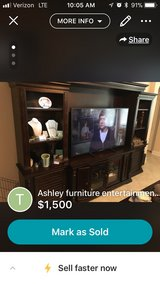 large mahogany entertainment center in San Antonio, Texas
