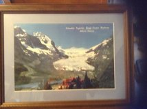Framed and matted picture of blue glacier in Watertown, New York