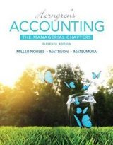 Details about  Horngren's Accounting Managerial Chapters by Charles T Horngren & Miller-Nobles in Tacoma, Washington