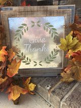 give thanks wall hanging in Fort Jackson, South Carolina