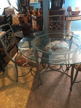 "Indoor out door glass top 48""round 30""tall 4 chairs in Conroe, Texas"