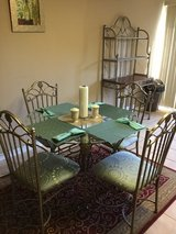 Kitchen table and 4 chairs, bakers rack in Joliet, Illinois