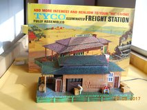 Electric Train Freight Station, Tyco, Vintage, in original box Factory Assembled HO scale ready ... in Kingwood, Texas
