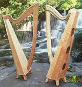Beautiful 36 string professional Thormahlen Swan Maple Harp in Oceanside, California