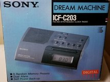 SONY DREAM MACHINE ICF-C203 AM/FM Radio Dual Alarm Clock Radio in Glendale Heights, Illinois