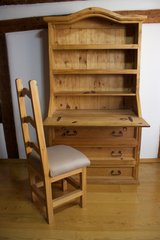 Pine Wood Secretary and Chair in Stuttgart, GE
