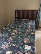 Twin bed with rails and mattress set in Batavia, Illinois