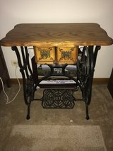 Vintage Antique Refurbished Sewing Machine Table in Naperville, Illinois