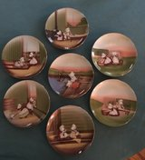 Complete Set: 7 Royal Bayreuth Sun-Bonnet Babies Weekday Chores Plates 1974 in Naperville, Illinois