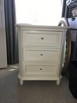 White bedside table with drawers in Naperville, Illinois