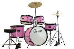 Gammon 5-piece Junior Starter Drum Kit with Cymbals and Throne in Byron, Georgia