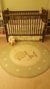 Pottery Barn Sage Green Lambie Nursery Set and Rug in Bartlett, Illinois
