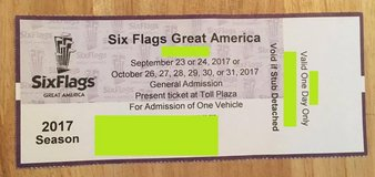Six Flags Great America Fright Fest Ticket + Parking Pass in Chicago, Illinois