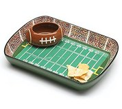 Football Chip and Dip Tray in Wheaton, Illinois