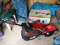 Grizzly electric mower with extension cord in Spangdahlem, Germany