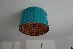 Teal and copper lamp shade in Ramstein, Germany
