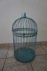 Tall vintage teal bird cage in Baumholder, GE
