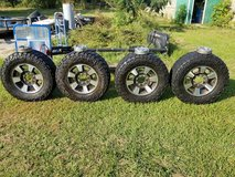Nitto M/Ts on 18 inch Ford super duty rims off a King ranch in Fort Polk, Louisiana
