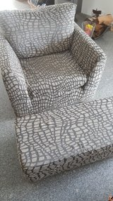 Great chair with footstool. in Ramstein, Germany