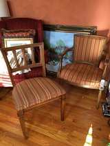 Striped upholstered chairs in Naperville, Illinois