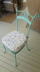 Sweet Metal Chair w/Cushion in Beaufort, South Carolina