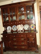Ethan Allen Old Tavern Pine China Cabinet price reduced in Alamogordo, New Mexico