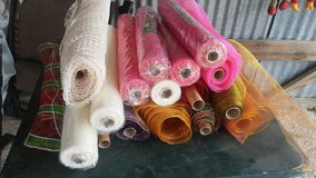 17 Rolls of Poly Mesh for Wreaths in Fort Polk, Louisiana