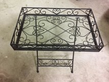 Southern Living wrought iron side table in Kingwood, Texas