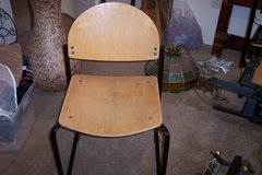 Vintage wooden chairs in Alamogordo, New Mexico