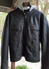 Mens First Classic Leather Motorcycle Jacket Size 4X - New with Tags in Fort Polk, Louisiana