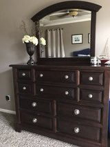 Vaughn Basset espresso dresser with mirror in Kingwood, Texas