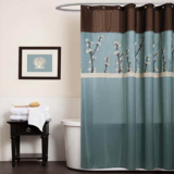 blue floral shower curtain in Camp Pendleton, California