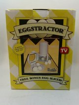 NEW In Box Eggstractor Hard Boilded Egg Peeler With Bonus Slicer As Seen on TV in Morris, Illinois