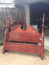 Cherry wood Queen 4 Poster Bed in Kingwood, Texas