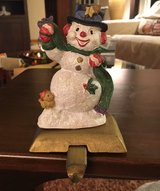 Snowman Stocking Holder in Naperville, Illinois