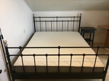 IKEA King Bed with mattress and night stand for Sale! in Hohenfels, Germany
