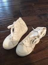 Cream lace high tops size 13 in Naperville, Illinois