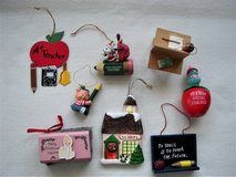 Lot of 8 Christmas Ornaments for Teachers in Joliet, Illinois