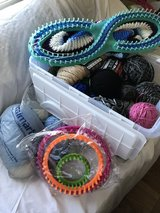 Yarn and looms in Fort Irwin, California