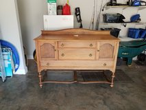 Antique buffet table from 1800's era in Byron, Georgia